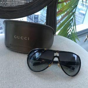 GUCCI Aviator Tortoise Shell & Gold Sunglasses